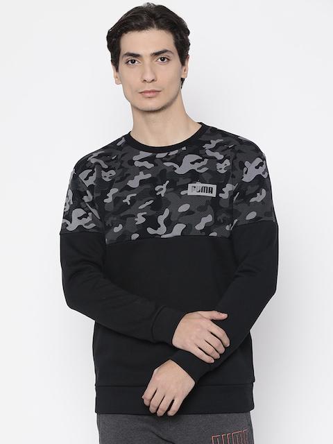 Puma Men Black Printed Sweatshirt
