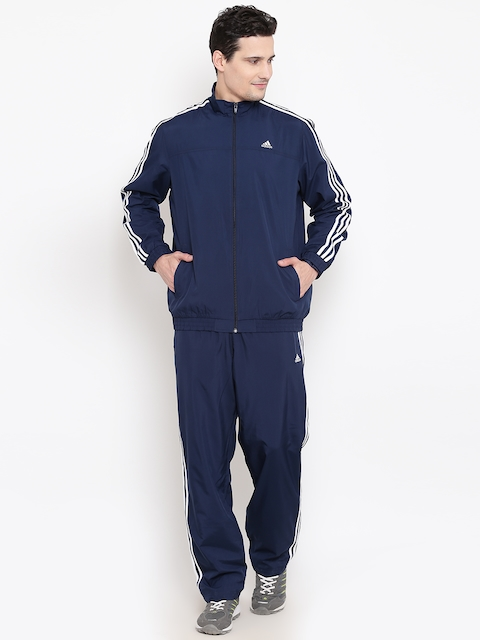 Adidas Navy ESS 3S Woven Tracksuit