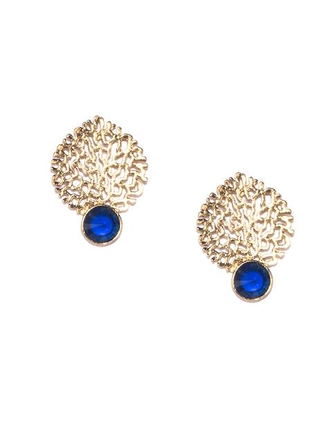 Fida Gold-Toned Contemporary Drop Earrings