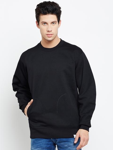 Adidas Originals Men Black X BY O Crew Solid Sweatshirt