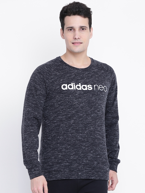 Adidas NEO Men Charcoal Grey CE ML Printed Sweatshirt