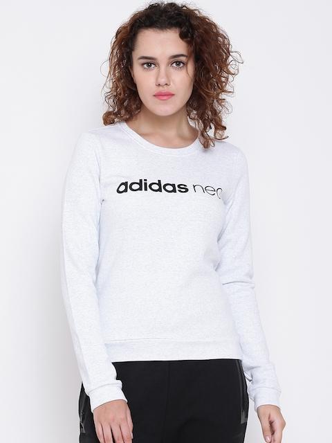 Adidas NEO Women Off-White CE FLC Printed Sweatshirt