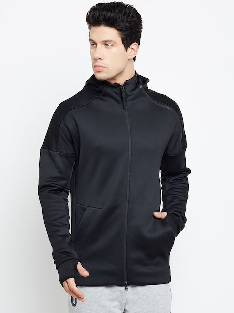 Adidas Men Black ZNE Heat Solid Hooded Sweatshirt