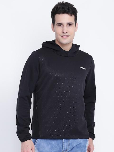 ADIDAS NEO Men Black CS Sonic Printed Detail Hooded Sweatshirt