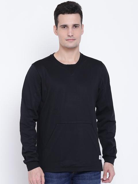 Adidas NEO Men Black Solid Sweatshirt