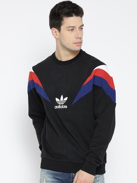 Adidas Originals Men Black NEVA Crew Colourblocked Sweatshirt