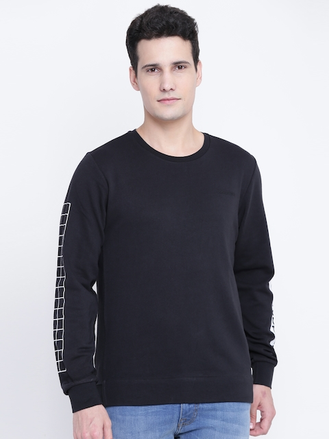 Adidas NEO Men Black CS WC Printed Detail Sweatshirt