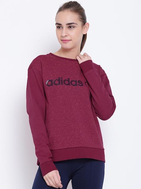 Adidas NEO Women Magenta Graphic Print Sweatshirt