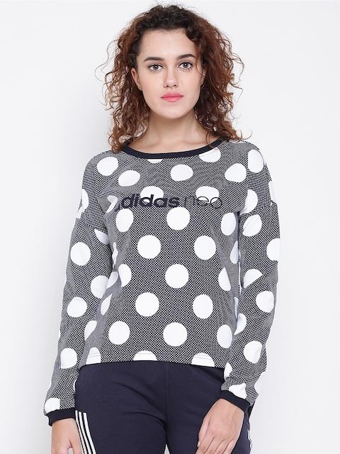 Adidas NEO Women Navy & White FV AOP Printed Sweatshirt