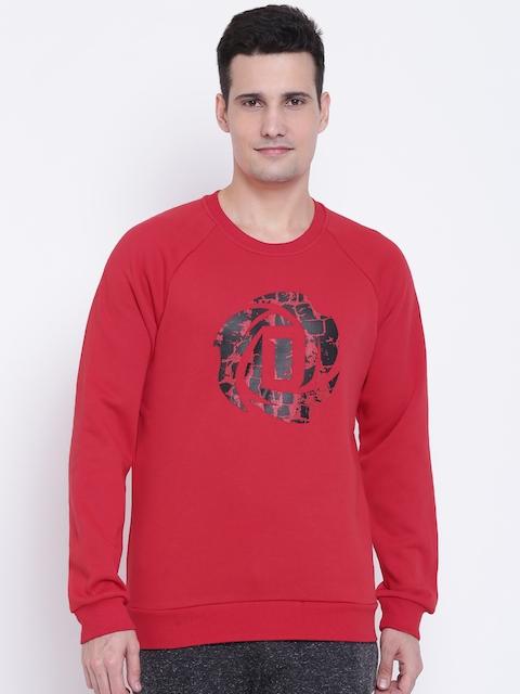 Adidas Men Red Rose Crew Printed Sweatshirt