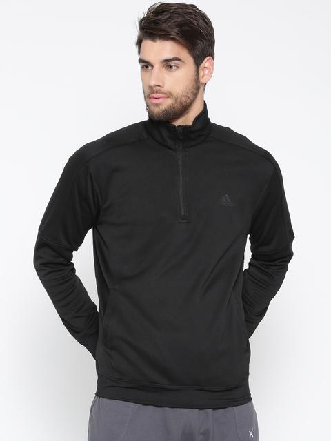 Adidas Men Black Winter Off Solid Sweatshirt