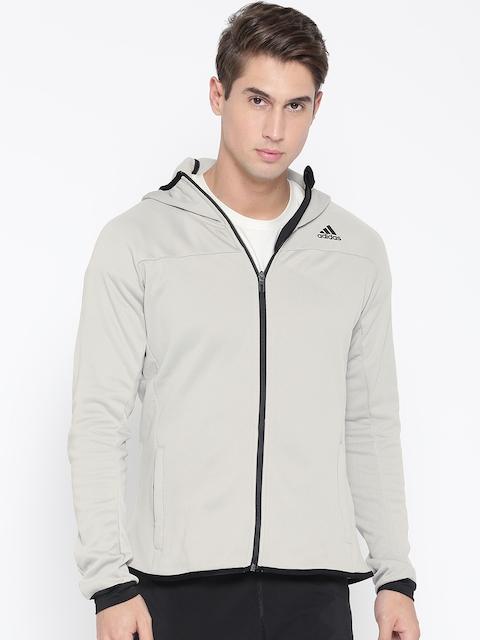 Adidas Men Grey WINOFF Hoody Sporty Jacket
