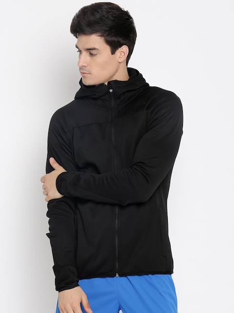 Adidas Men Black Solid Hooded Sweatshirt