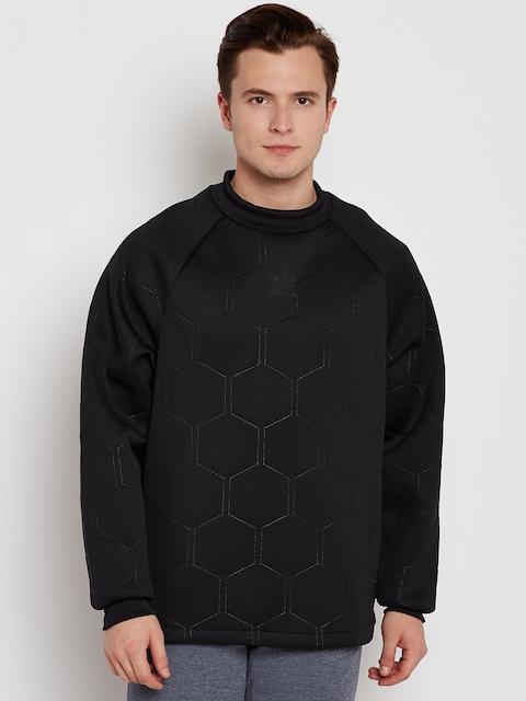 Adidas Originals Men Black Sonic Soccer CR Self Design Sweatshirt