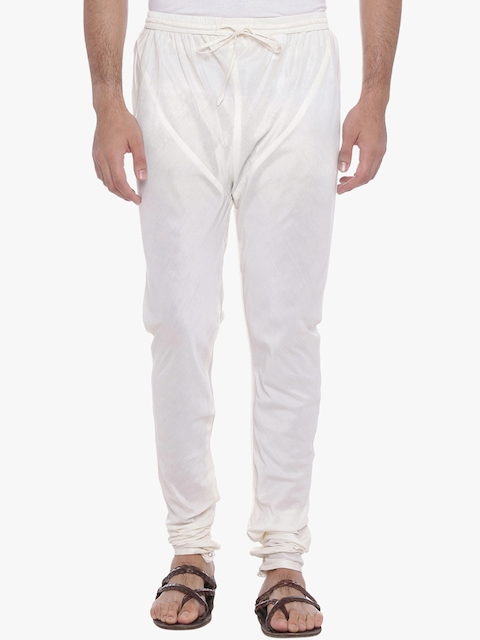 indus route by Pantaloons Men Off-White Churidar