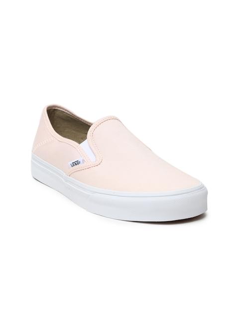 Vans Women Pink Slip-On SF Sneakers