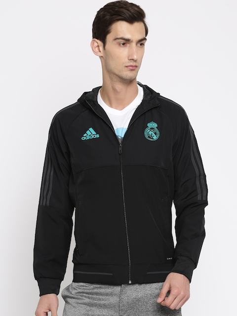 Adidas Men Black Solid REAL PRE Sporty Jacket
