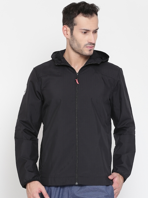 Adidas Men Black Rose Solid Sporty Jacket
