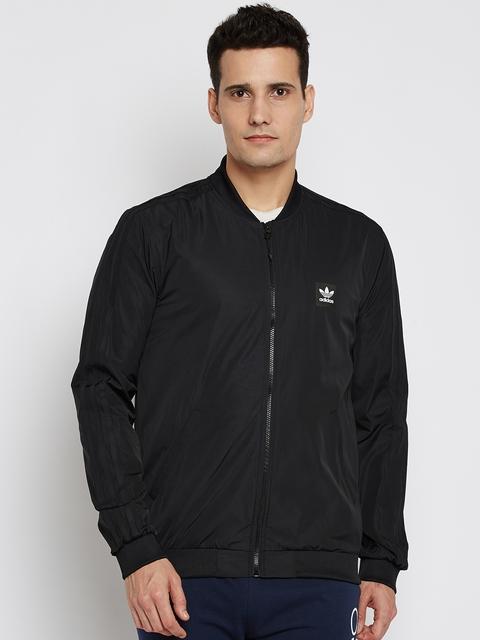 Adidas Originals Men Black Varsity Solid Jacket