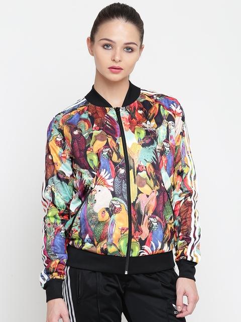 Adidas Originals Women Multicoloured Printed Bomber Jacket