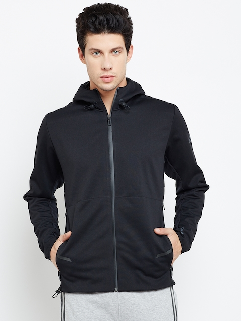 Adidas Men Black Workout FZ Heat Self-Checked Jacket
