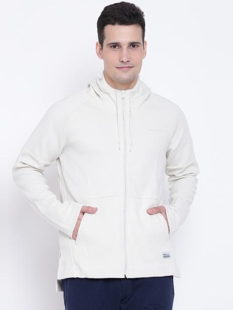 ADIDAS NEO Men Off-White UT CKL SPC Solid Hooded Sweatshirt