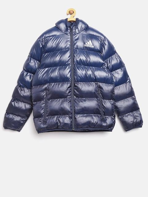 Adidas Boys Blue SD BTS Colourblocked Puffer Jacket