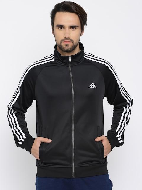 Adidas Men Black Solid Sweatshirt