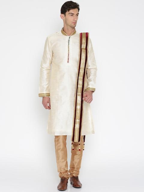RG DESIGNERS Men Maroon Velvet Embellished Dupatta