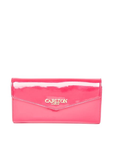 Carlton London Women Pink Solid Two Fold Wallet