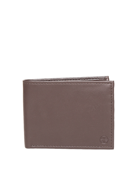 Carlton London Women Brown Solid Two Fold Wallet
