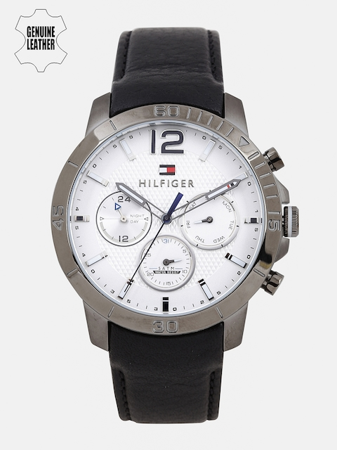 Tommy Hilfiger Men White & Silver-Toned Multi-Function Analogue Watch TH1791271J