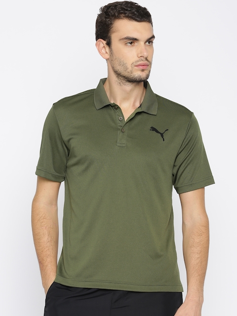 Puma Men Olive Green ACTIVE Pique Polo T-shirt