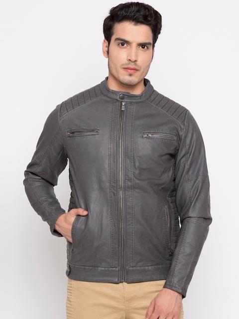 Pepe Jeans Men Black Solid Biker Jacket