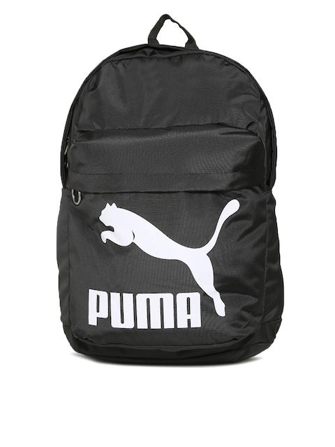 Puma Unisex Black Brand Logo Originals Backpack