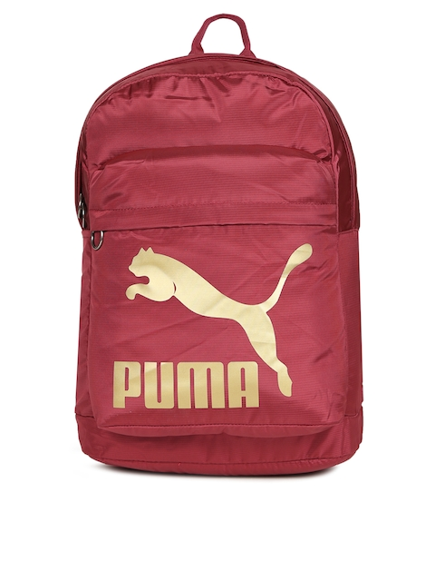 Puma Unisex Maroon Originals Printed Backpack