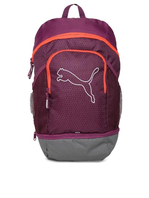 Puma Unisex Purple Solid Echo Backpack