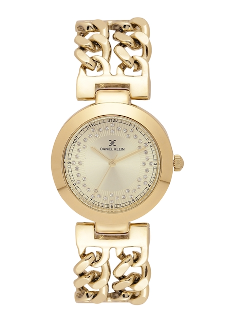 Daniel Klein Women Gold-Toned Analogue Watch DK10911-3