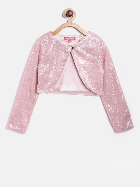 Nauti Nati Girls Pink Sequinned Net Shrug