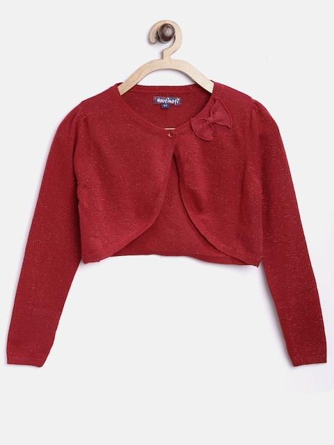 Nauti Nati Girls Red Shimmer Shrug