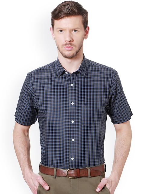 Allen Solly Men Blue Slim Fit Checked Casual Shirt