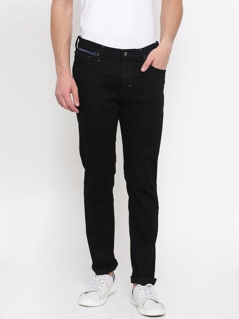 Lee Men Black Bruce Skinny Fit Mid-Low Rise Clean Look Jeans