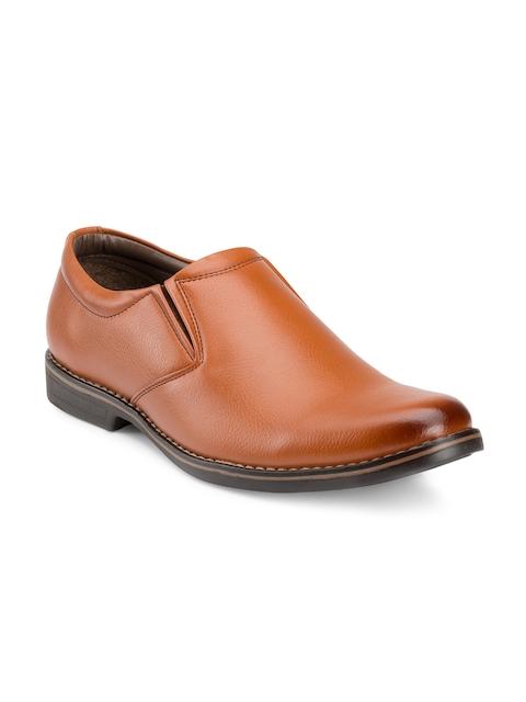 Escaro Men Tan Brown Formal Shoes
