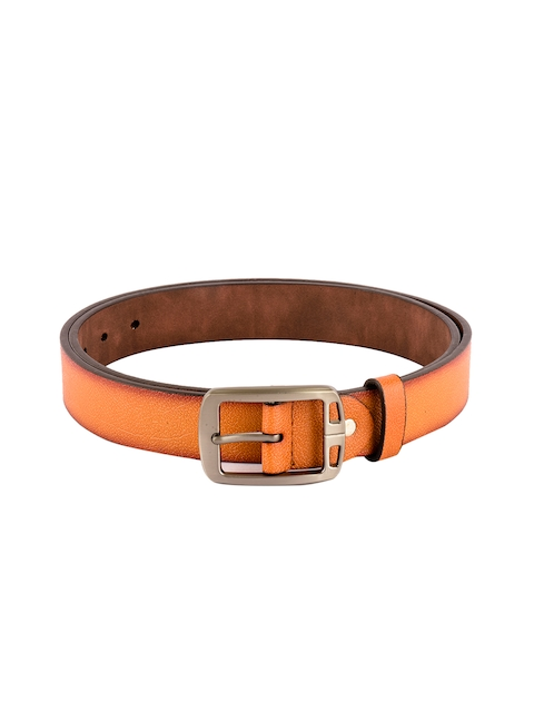 BuckleUp Men Tan Brown Leather Solid Belt