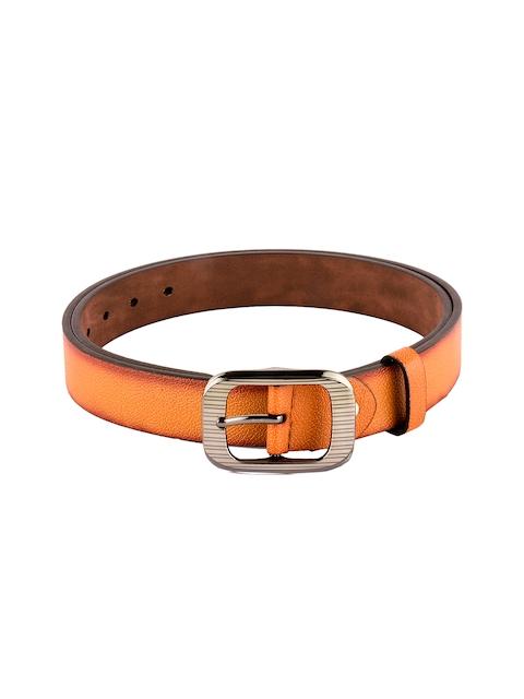 BuckleUp Men Tan Brown Leather Solid Belt