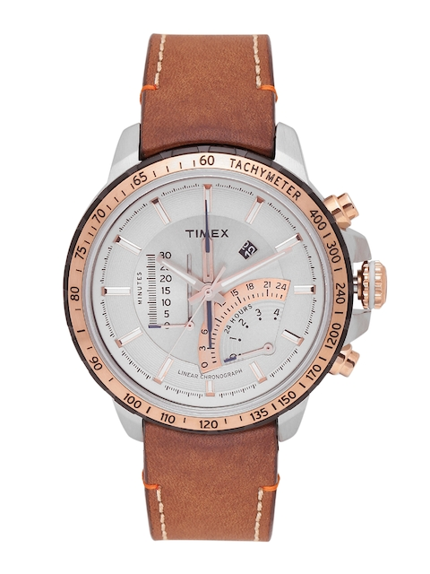 Timex Men Off-White & Gold-Toned Analogue Watch 16203