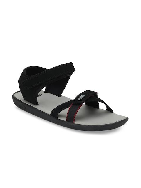 Puma Unisex Black Pebble IDP Sports Sandals