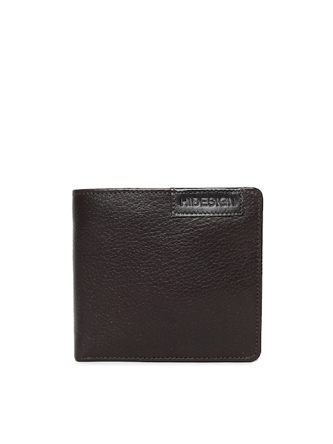 Hidesign Men Brown Two Fold Leather Wallet