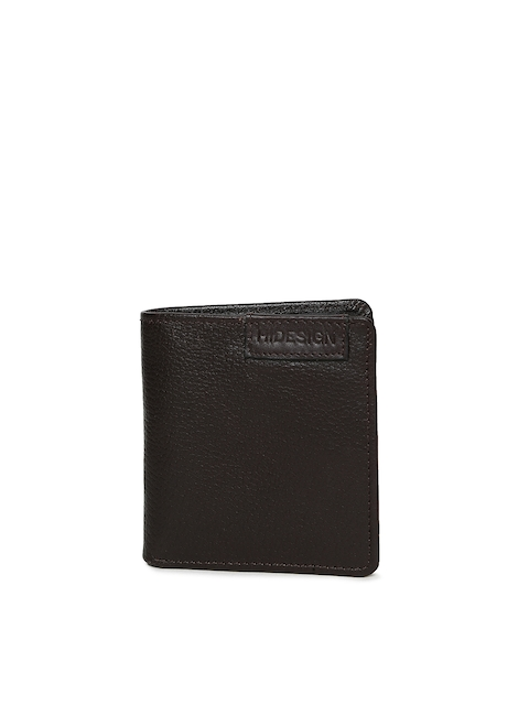 Hidesign Men Brown Textured Two Fold Wallet