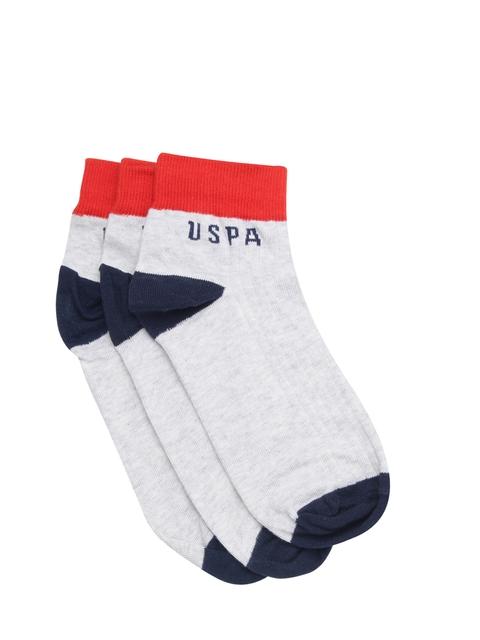 U.S. Polo Assn. Men Pack of 3 Ankle-Length Socks